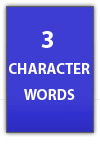 3 character aramaic words